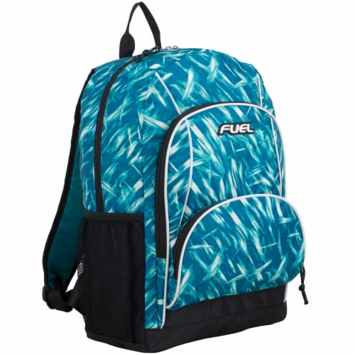 Fuel Triple Decker Backpack - Brush Stroke Aqua/White Perspective: front