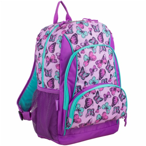 Fuel Colorful Butterflies Triple Decker Backpack Perspective: front