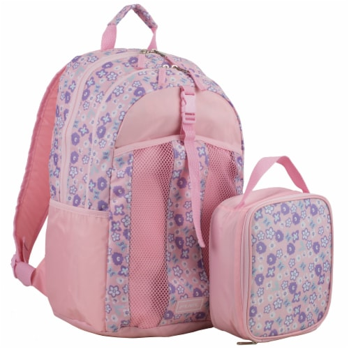 Fuel Deluxe Backpack/Lunch Bag Combo - Pink/Purple Perspective: front