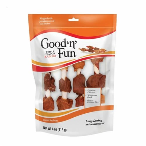 Healthy Hide Good N' Fun Triple Flavor Kabobs Treats For Dogs 4 oz 4 pk - Case Of: 1; Perspective: front