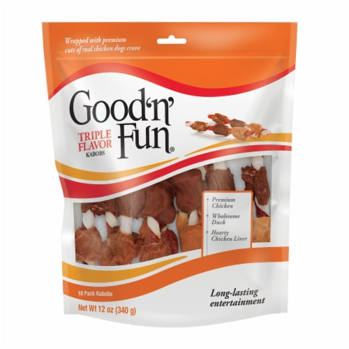 Good 'n' Fun Triple Flavor Kabob Dog Treats Perspective: front