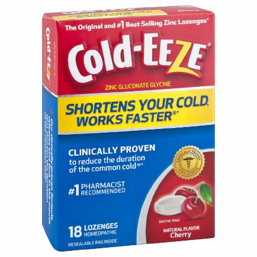 Cold-Eeze Cherry Flavor Cold Remedy Lozenges Perspective: front