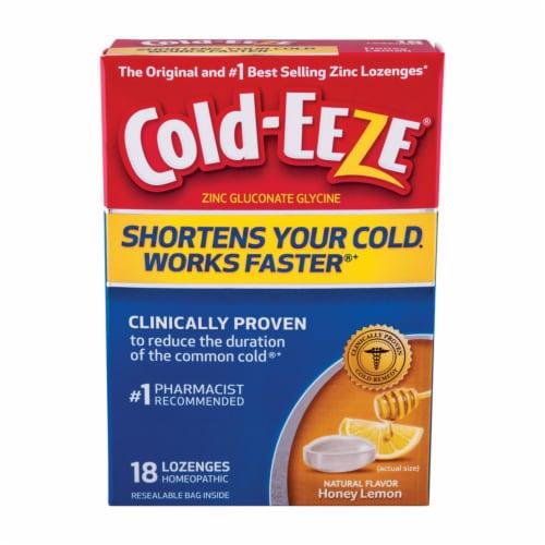 Cold-Eeze Cold Remedy Honey Lemon Lozenges Perspective: front