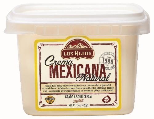 Los Altos Crema Mexicana Natural Sour Cream Perspective: front