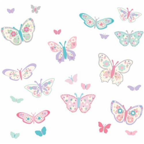 Brewster Home Fashions DWPK1154 Flutterby Butterflies Applique Kit - 39 in. Perspective: front