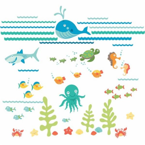 Brewster Home Fashions DWPK1155 Under The Sea Applique Kit - 39 in. Perspective: front