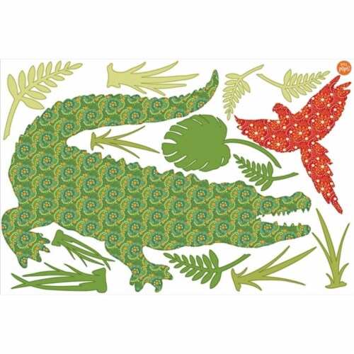 Brewster Home Fashions DWPZ1335 Amos The Crocodile Wall Art Kit - 24 in. Perspective: front
