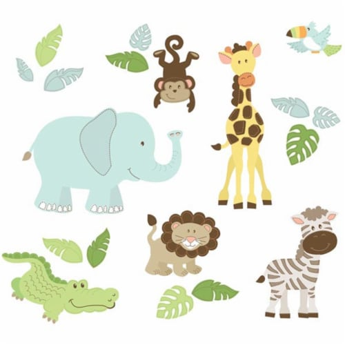 Brewster Home Fashions WPK1374 Safari Buddies Large Wall Art Kit - 78 in. Perspective: front