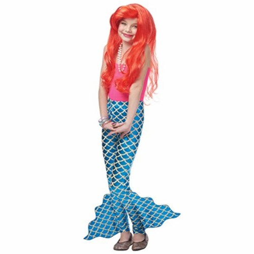 Costume Culture 32110-S Child Pants Mermaid, Blue - Small Perspective: front