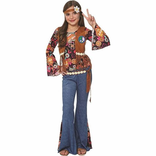 Costume Culture by Franco 49469-L Peace Out Hippie Kids Costume, Large Perspective: front