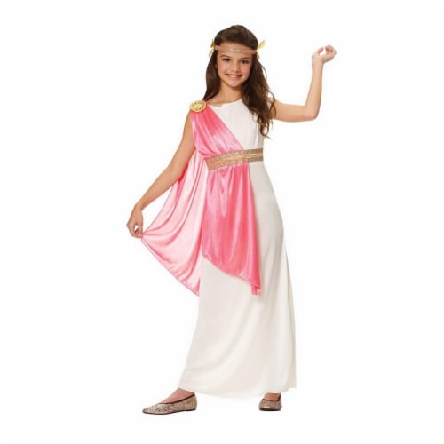 Costume Culture by Franco 49450-M Girls Roman Empress Costume, Ivory - Medium Perspective: front