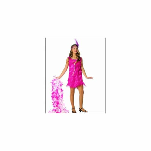 Franco American Novelty 49726-M Costume Flapper Pink - Medium Perspective: front