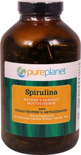 Pure Planet Spirulina Capsules Perspective: front