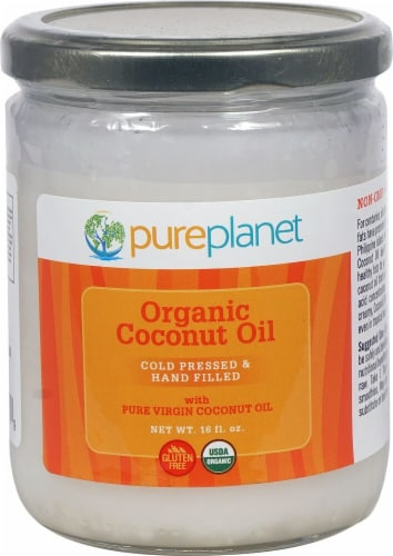 Pure Planet  Organic Coconut Oil Perspective: front