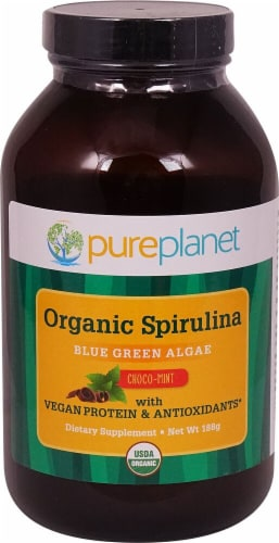 Pure Planet  Organic Spirulina   Choco-Mint Perspective: front