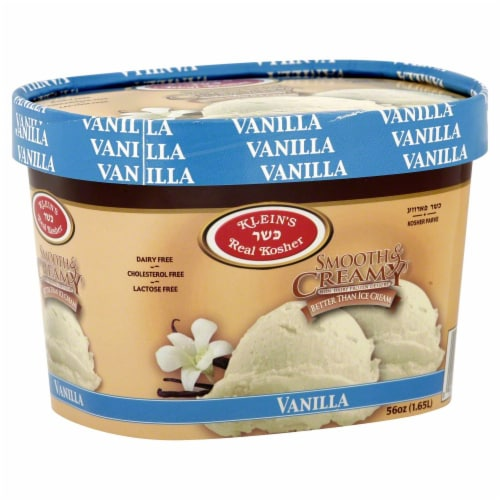 Klein's Real Kosher Smooth and Creamy Vanilla Ice Cream Perspective: front