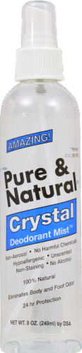 Pure & Natural Crystal Deodorant Mist Perspective: front