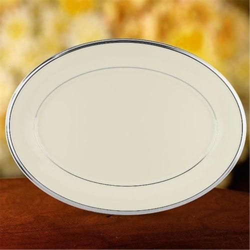 Lenox Solitaire 13 in. Platter Perspective: front