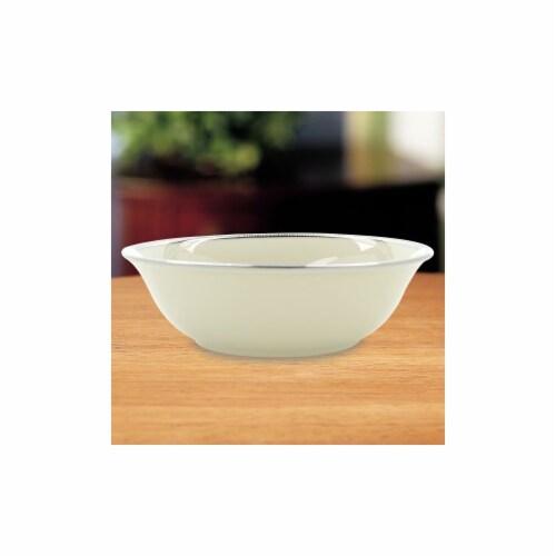 Lenox 110901360 Tuxedo Platinum Fruit Bowl Perspective: front