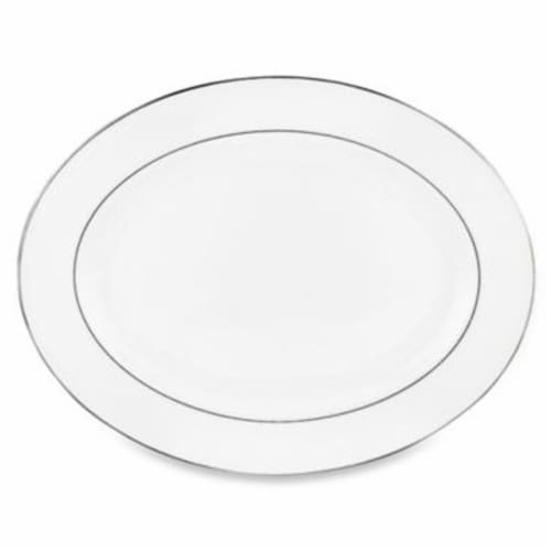 Lenox Continental Dining Platinum 16 in. Oval Platter Perspective: front