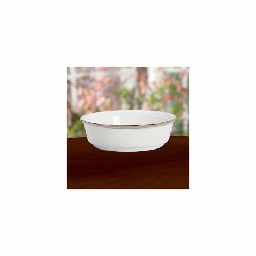 Lenox Solitaire White Service Plate Perspective: front