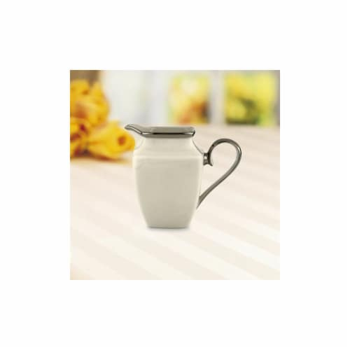Lenox Solitaire Square Creamer Perspective: front
