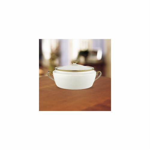 Lenox 6252035 Eternal Covered Vegetable Bowl Perspective: front