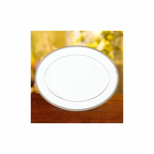 Lenox Murray Hill Oval Platter 16 In. Perspective: front