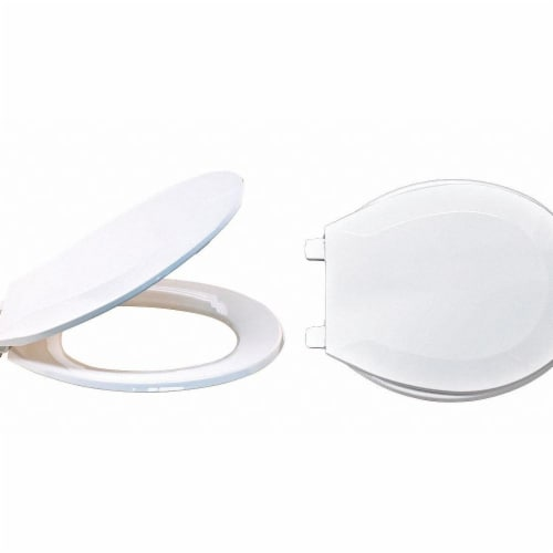 Sim Supply Toilet Seat,Round Bowl,Closed Front  65901 Perspective: front