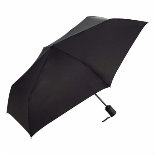 ShedRain RainEssentials® Auto-Open and Auto-Close Compact Umbrella - Black Perspective: front