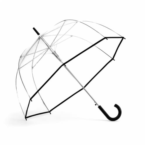 ShedRain Bubble Auto-Open and Auto-Close Stick Umbrella - Clear Perspective: front