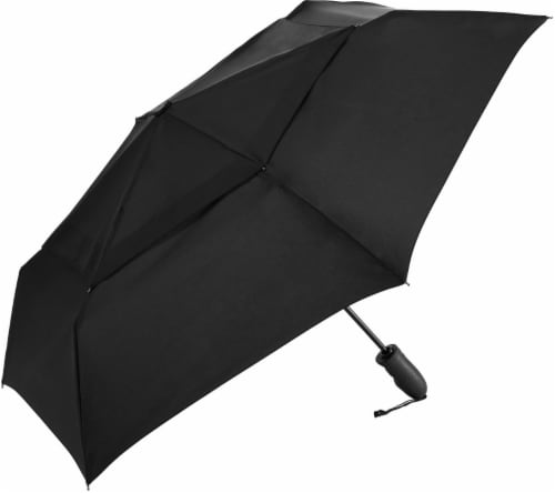 ShedRain Windjammer® Automatic Vented Umbrella - Black Perspective: front