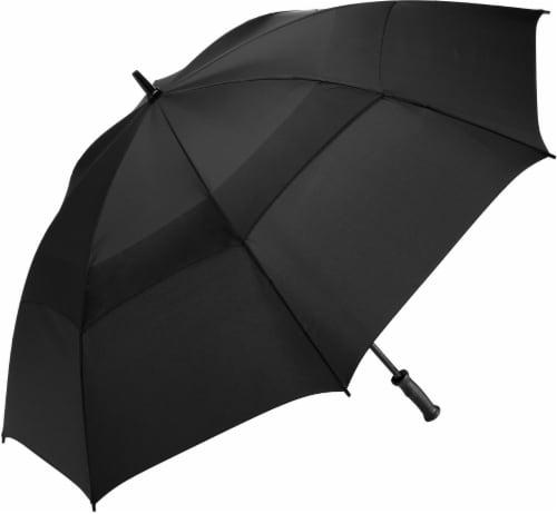 ShedRain Windjammer® Vented Golf Umbrella - Black Perspective: front