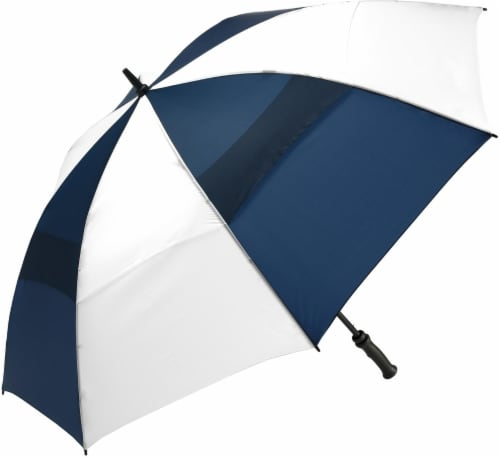 ShedRain Windjammer® Vented Golf Umbrella - Navy/White Perspective: front