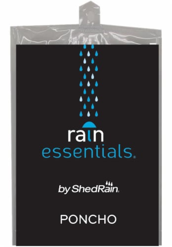 ShedRain Adult Poncho - Clear Perspective: front