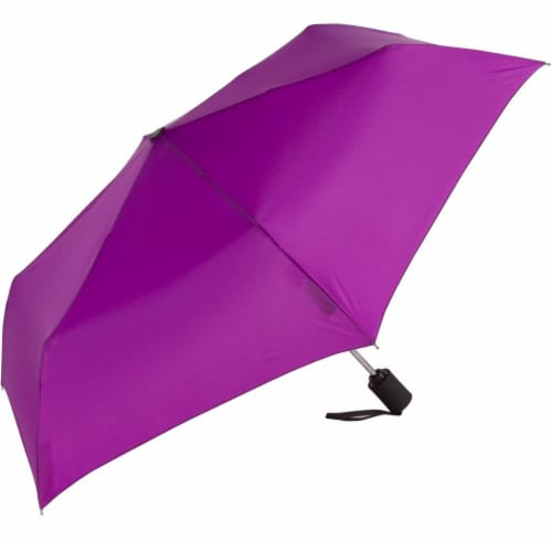 ShedRain Windjammer® Automatic Vented Compact Umbrella - Hyacinth Perspective: front