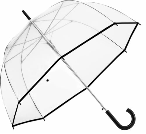 ShedRain Automatic Open Bubble Umbrella - Clear Perspective: front
