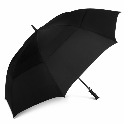 ShedRain Windjammer Auto Open Golf Vented Umbrella - Black Perspective: front