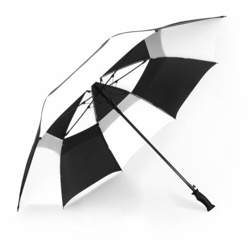 ShedRain Windjammer Auto Open Golf Vented Umbrella - Black/White Perspective: front