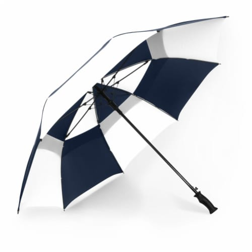 ShedRain Windjammer Auto Open Golf Vented Umbrella - Navy/White Perspective: front