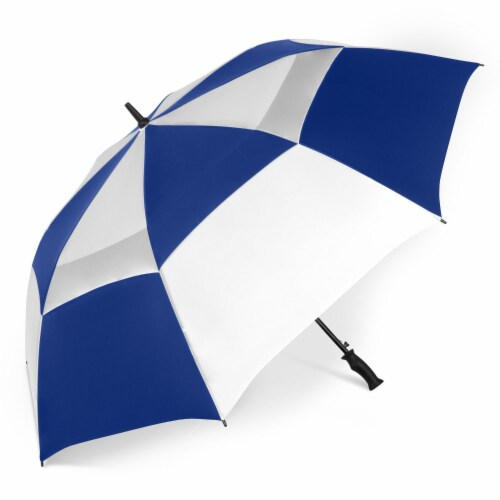 ShedRain Windjammer Auto Open Golf Vented Umbrella - Royal White Perspective: front