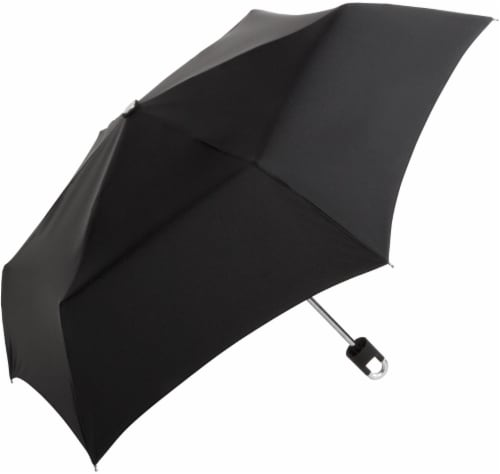 ShedRain Manual Clip Compact Umbrella - Black Perspective: front