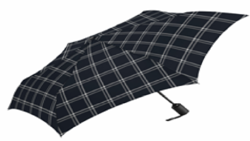 ShedRain Winston Print Compact Umbrella - Black/White Perspective: front