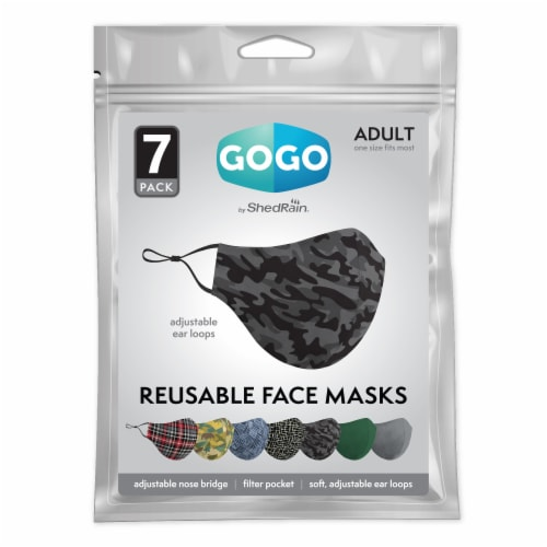 GoGo Adult Men's Face Mask Perspective: front