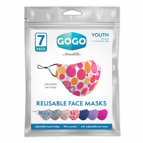 GoGo Youth Girls Face Mask Perspective: front