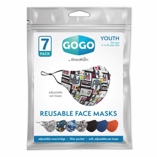 GoGo Youth Boys Face Mask Perspective: front