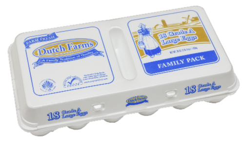 Dutch Farms Grade A Large Eggs Perspective: front