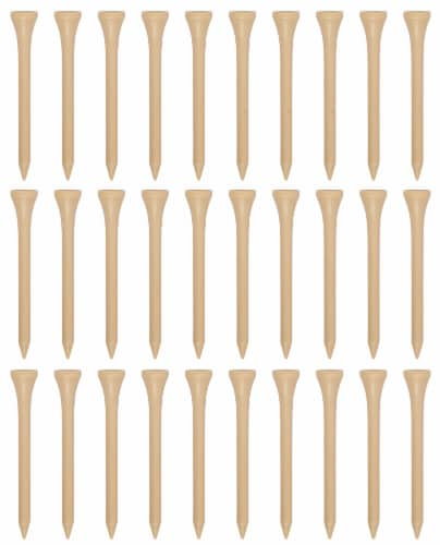 Pinemeadow SuperFly Golf Tees - 30 Pack - Natural Perspective: front
