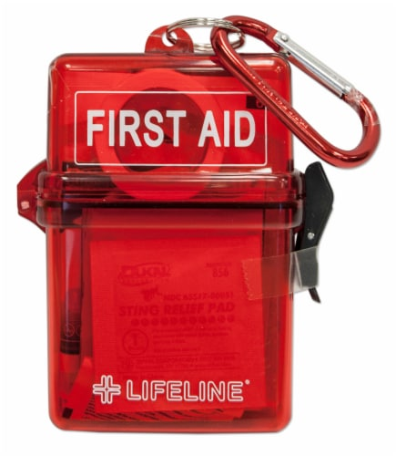 Lifeline Glove Box First Aid Kit - Red Perspective: front