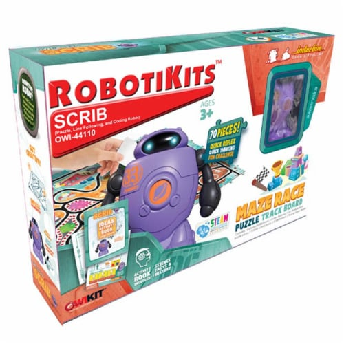 Scrib - Puzzle, Line Following, & Coding Robot Perspective: front